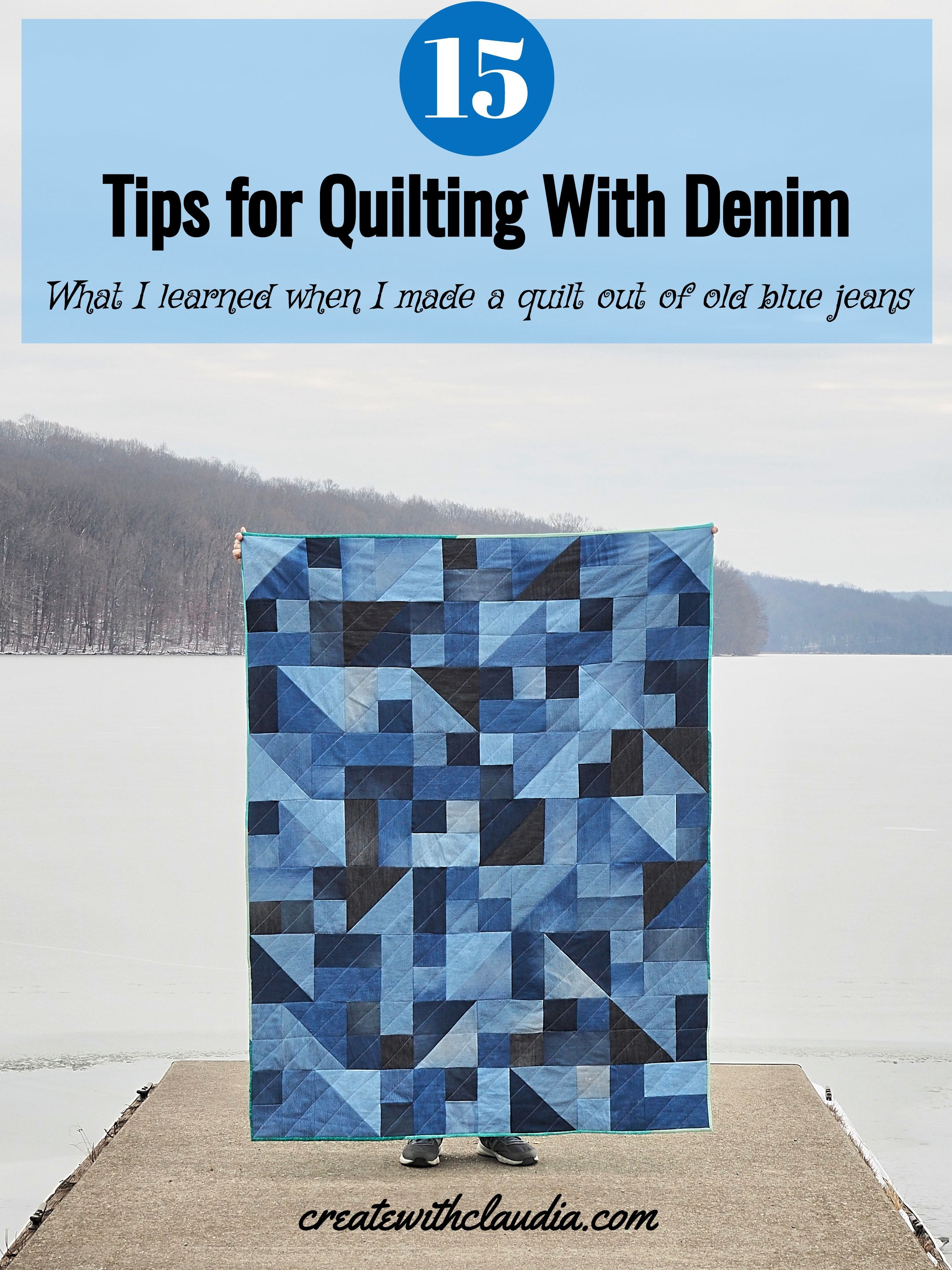15 Tips for Quilting with Denim