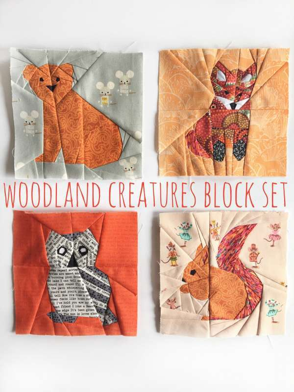 Quilt Block Pattern -Woodland Creatures