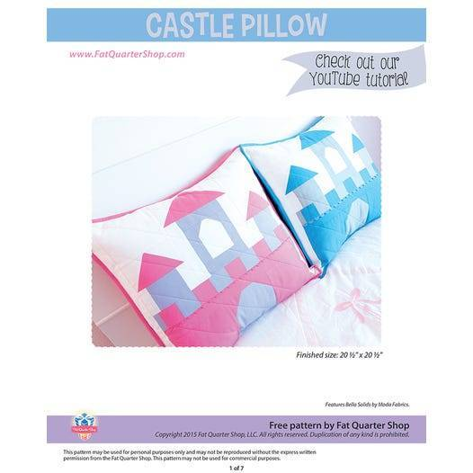 Quilting Pattern – Fairytale Castle Pillow