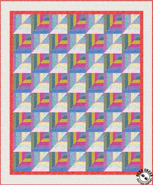 Geometric Rainbow Quilt Pattern