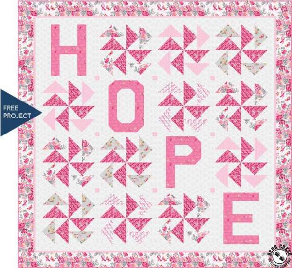 Breast Cancer Pink Ribbon – Hope Free Quilt Pattern