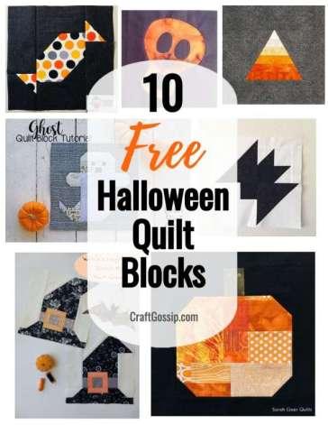 10 Free Halloween Quilt Blocks