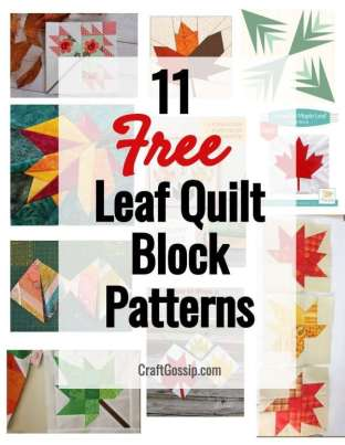 11 Free Leaf Quilt Block Patterns