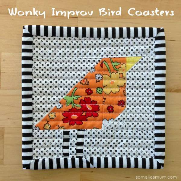 Quilting Pattern – Wonky Bird Coasters