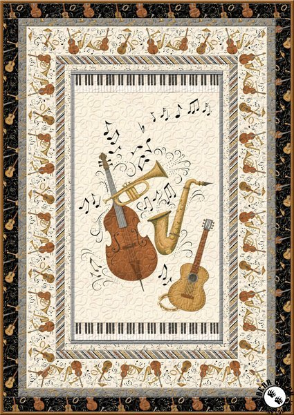 Classically Trained Music Free Quilt Pattern