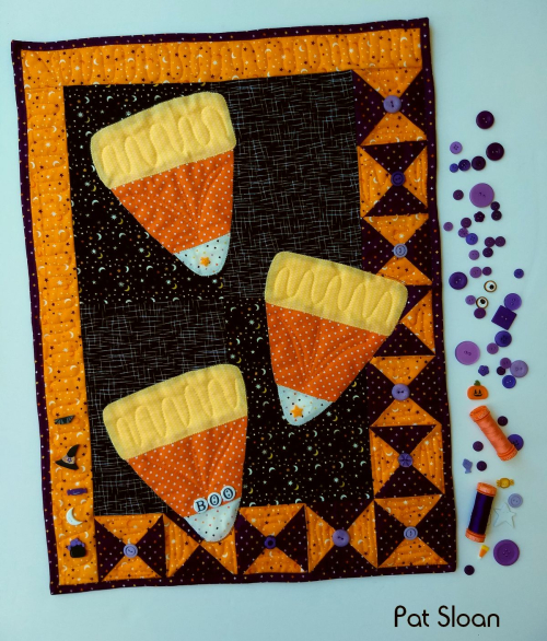Pat Sloan – Halloween Candy Corn Mini Quilt