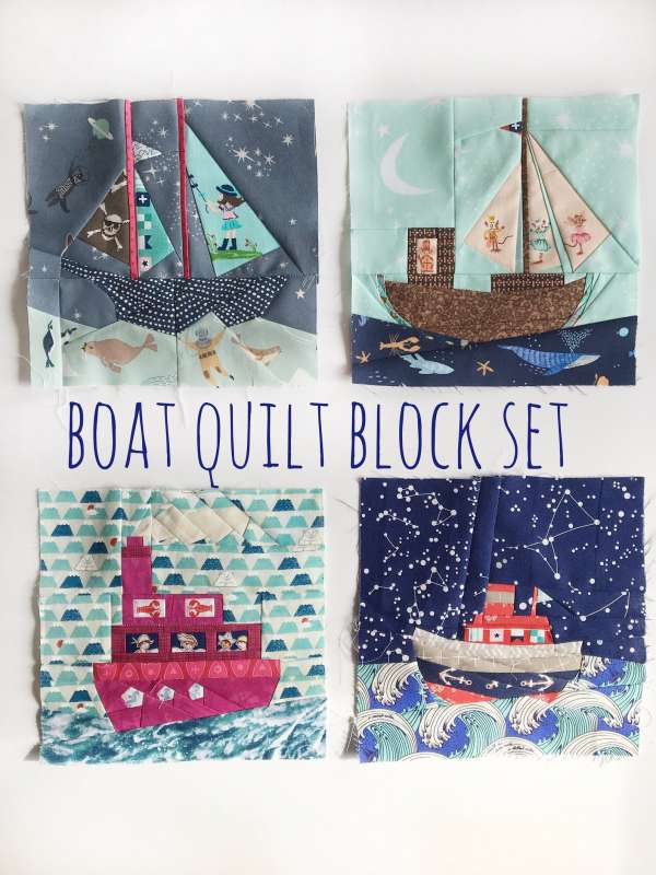 Quilt Block Pattern – Boat.Nautical Quilts