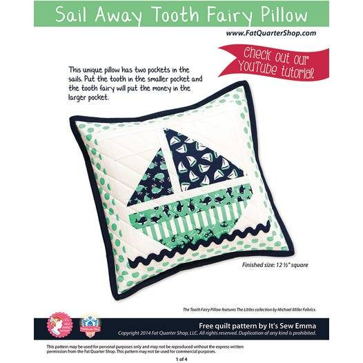 Sail Away Tooth Fairy Pillow Free PDF Quilting Pattern