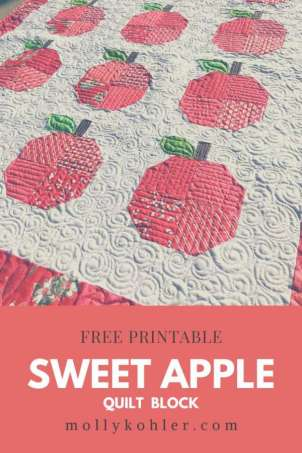 Apple Quilt Block Tutorial