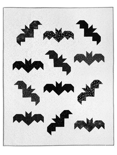 Halloween Bats Quilt Pattern