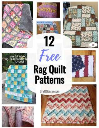 12 Free Rag Quilt Patterns
