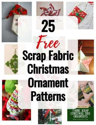 25 Free Scrap Fabric Christmas Ornament Patterns