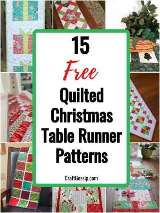 15 Free Quilted Christmas Table Runner Patterns