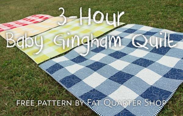 3 Hour Baby Gingham Quilt Free PDF Pattern