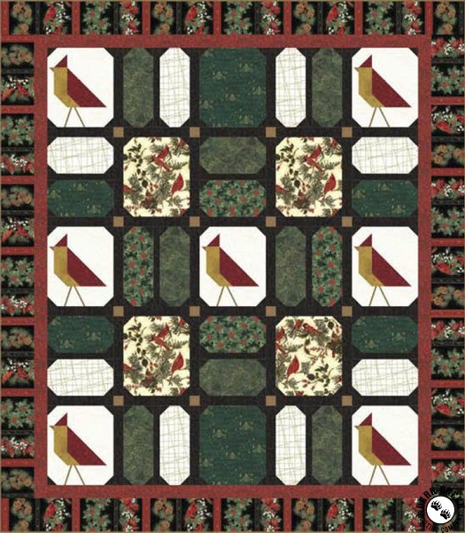 Cardinal Carols – Snow Birds Free Quilt Pattern