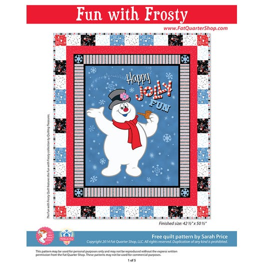 Fun With Frosty Quilt Free PDF Pattern