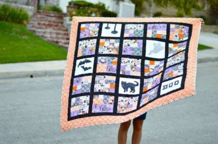 Free Happy Halloween Quilt Pattern