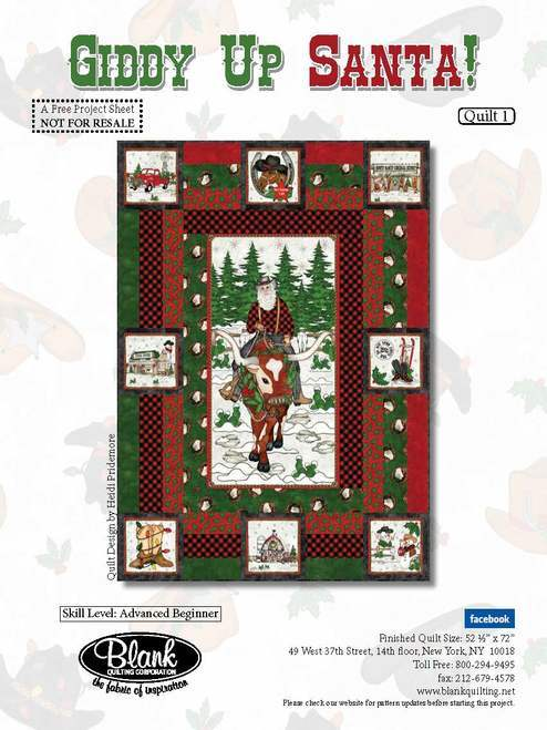 Giddy Up Christmas Santa! Quilt Pattern
