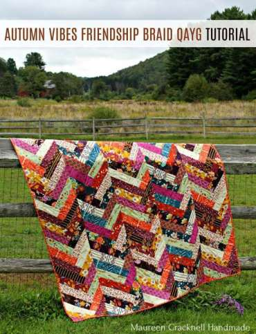 Autumn Vibes Free Quilt As You Go Pattern