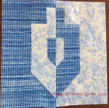 Dreidel Quilt Block Free Pattern