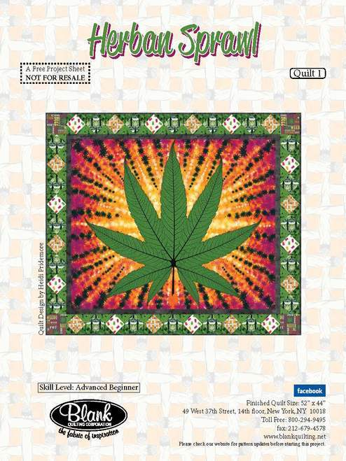 Cannabis Quilt Pattern