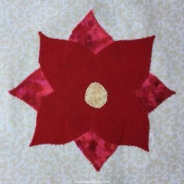 Poinsettia Quilt Block Free Pattern
