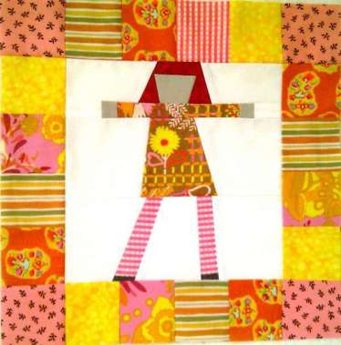 Free Pippi Longstocking Quilt Block Pattern