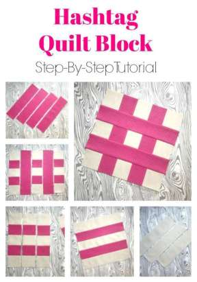 Free Hashtag Quilt Block Pattern