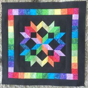 Mini Rainbow Star Quilt – Free Pattern
