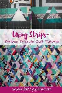 How to Make a Striped Triangle Quilt