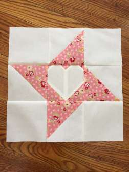 Friendship Heart Quilt Block Tutorial