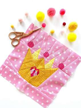 Crown Paper Pieced Quilt Block Pattern