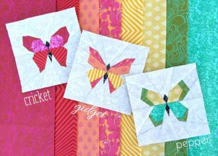 3 Paper Pieced Butterfly Quilt Block Patterns