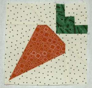 Carrot Quilt Block Pattern