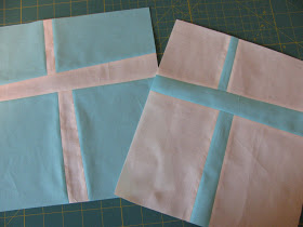 Improv Cross Quilt Block Pattern