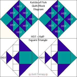 Fish Quilt Block Tutorial