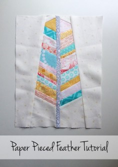How to Make a Paper Pieced Feather Quilt Block