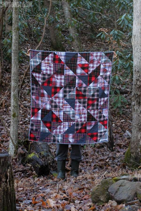 How to Make a Quilt Out of Upcycled Flannel Shirts
