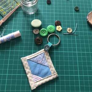 Mini Quilted Key Chain Tutorial