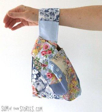 Scrap Fabric Japanese Knot Bag – Free Pattern