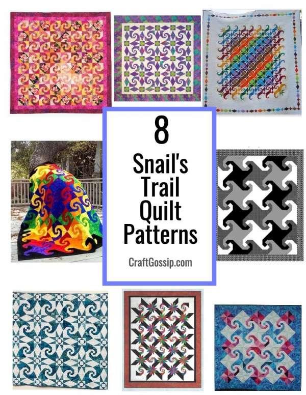 8 Snail's Trail Quilt Patterns