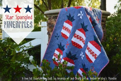 Patriotic Pineapple Quilt – Free Pattern