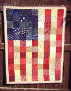 Red, White, and Blue Scrappy Flag Quilt Pattern