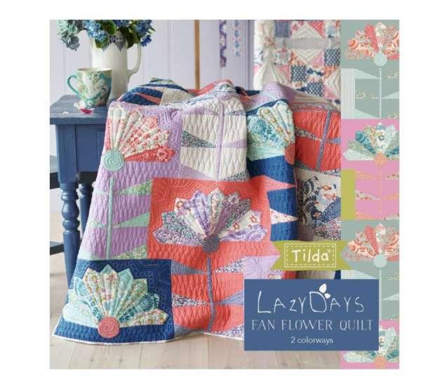 Dresden Wedge Floral Quilt Pattern