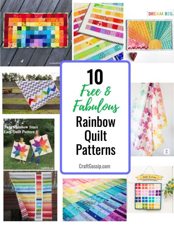 10 Free and Fabulous Rainbow Quilt Patterns