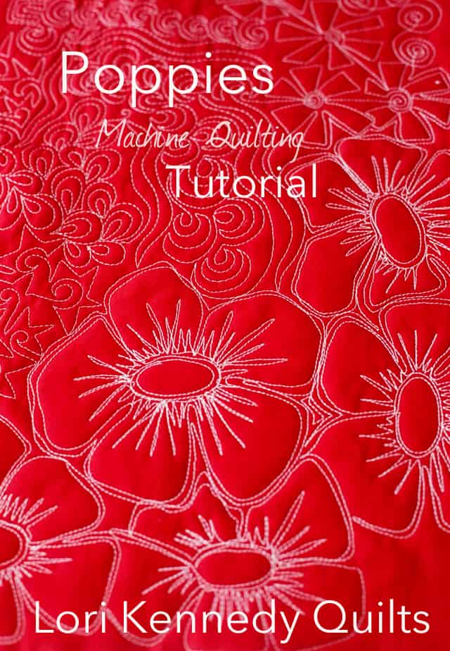 How to Machine Quilt Poppies
