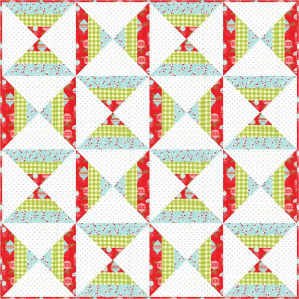 How to Make a Candy Corn Quilt – Free Pattern