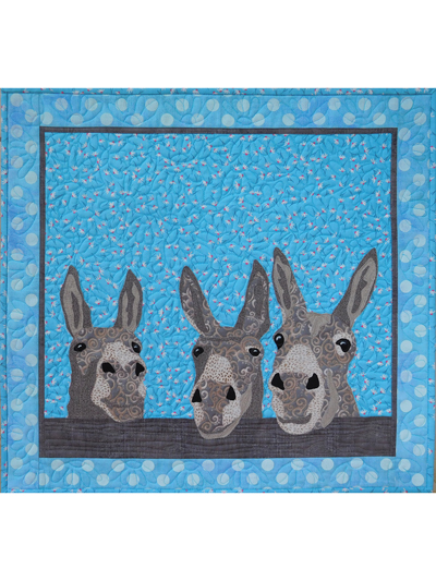 Quilted Donkey Wall Hanging Pattern