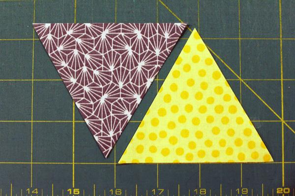 How to Sew Together 60º Fabric Triangles