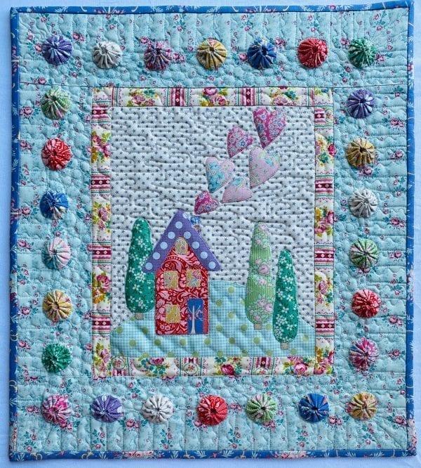 Raw Edge Whimsical Appliqué Mini Quilt Pattern